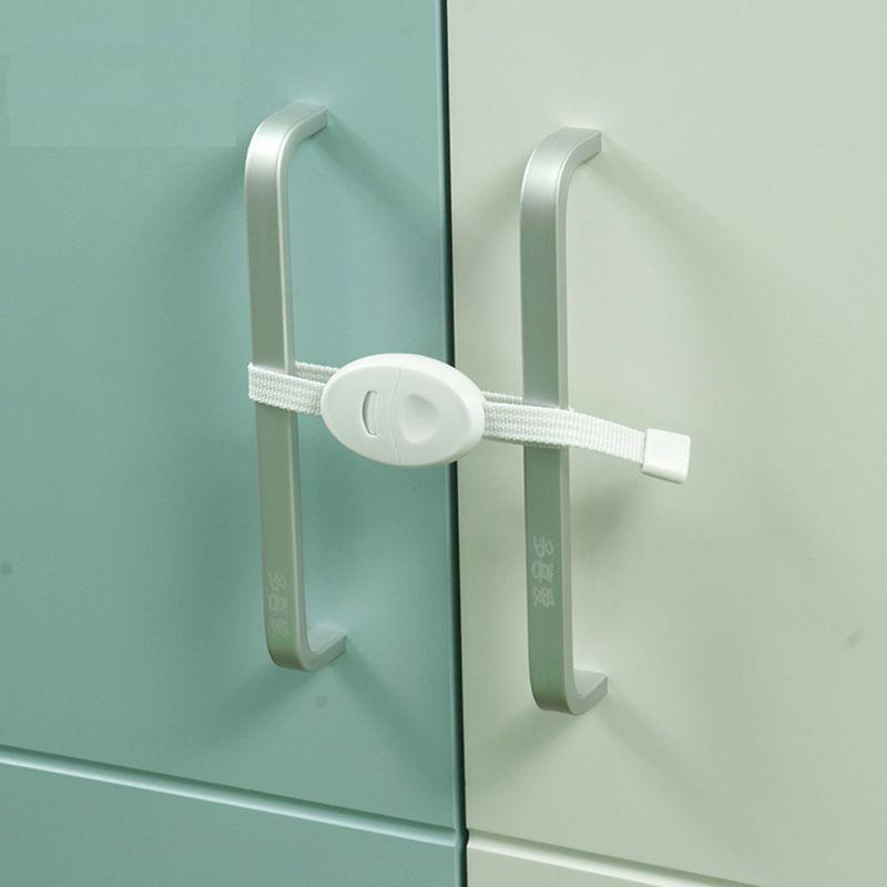 2Pcs Baby Safety Locks Furniture Restrictor Kids Protection Cupboard Cabinet Fridge Door Lock