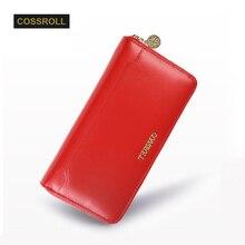 Ladies Women Wallets Genuine Leather Purses Long Wallet Woman Elegant Female Red Women's Wallets Leather Wallet Purse