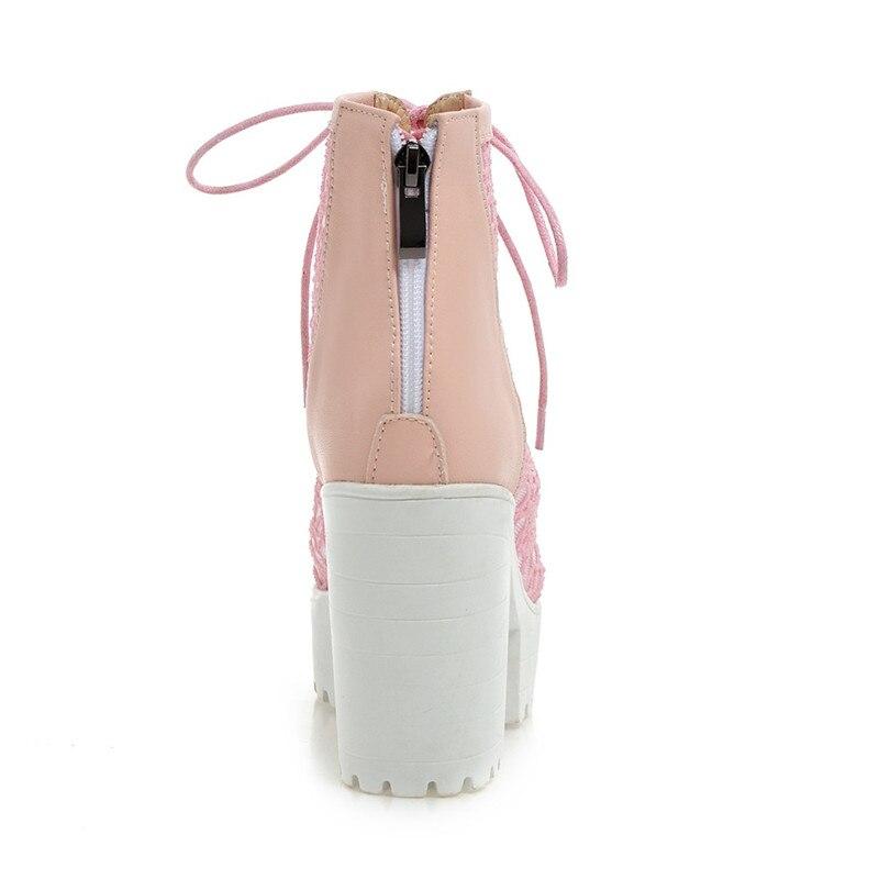 43 Cocoafoal Plus À apricot La 2018 Peep Femmes Toe Noires Talons Noir Hauts Bottes Chaussures Taille Femme rose Sandales Gladiateur qnqSFwP4r8