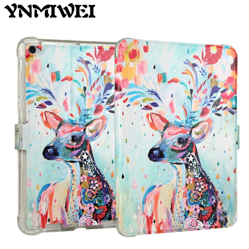 For Xiaomi mipad 2 PU Leather Case cover 7.9 inch Tablet Case Funda Colorful Print for Xiaomi mipad 3 2 MiPad 2 Protective Stand