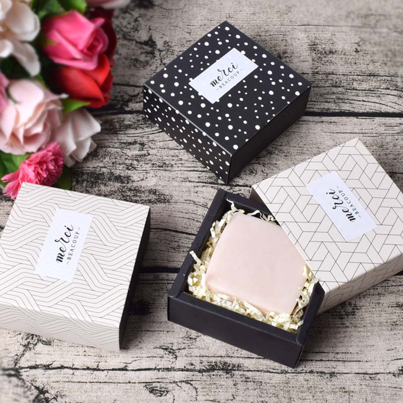5PC Flower Handmade Soap Boxes Party Present Gift Packaging Box Sweet Birthday Boite Dragees Wedding Favor Boxes For Candy Cake