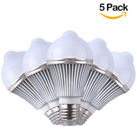 5PCS 5W Motion Activated LED Bulb E27 PIR Infrared Detection Auto LED Lamp With Motion Sensor