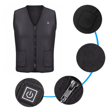 Men Infrared Heating Vest Jacket Winter