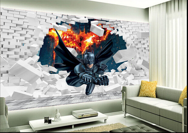 Online buy wholesale batman rolling from china batman for Batman bedroom wall mural