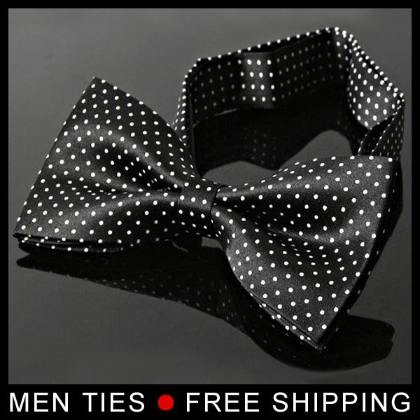 NEW Arrival Hot Sale Men Imitation Silk Tuxedo Adjustable Neck Bowtie Bow Tie with Dot Drop shipping Free Shipping