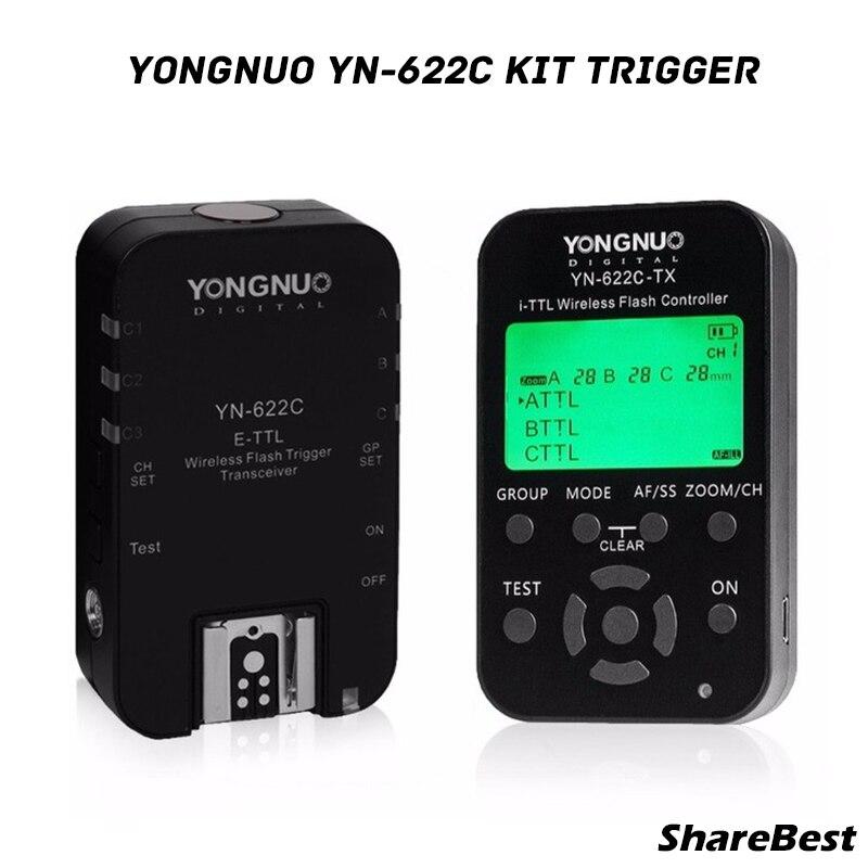 Yongnuo YN622 C kit (1x YN622C TX + 1x YN622C RX) E TTL LCD sans fil flash contrôleur déclencheur émetteur récepteur pour Canon DSLR-in Clignote from Electronique    1