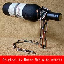 Originality design Retro European style Red wine stents metal bracket