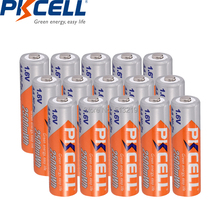 Ni-Zn-Batteries PKCELL 2500mwh Camera Rechargeable-Battery AA for Toys 15PCS Over-Current-Protection