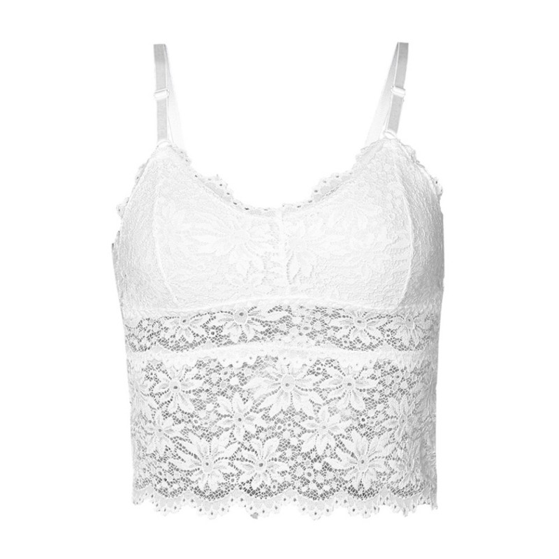 cd5393e734d9 Detail Feedback Questions about Lace Tube Top Beauty Back Wrapped Chest  Strap Chest Pad Sexy Gathered Camisole Short Paragraph Long Bottom Vest on  ...
