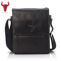 LY SHARK Cow Genuine Leather Messenger Bags Men Casual Travel Business Crossbody Shoulder Bag For Man