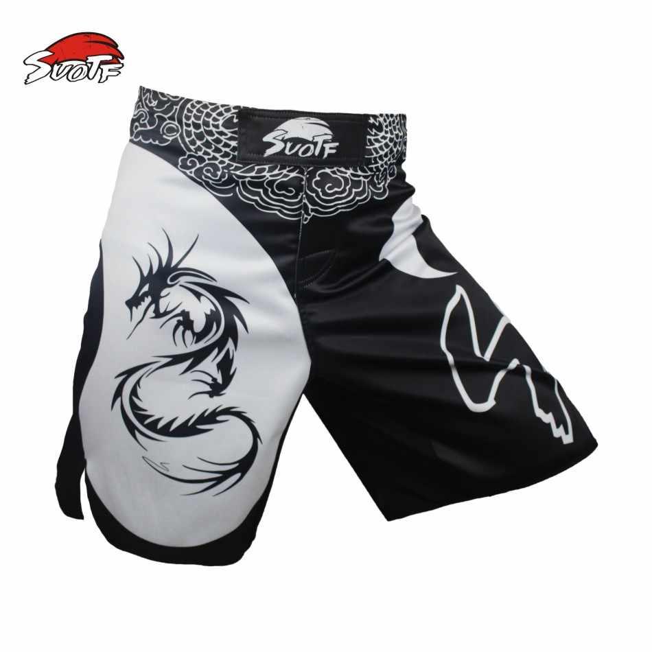 Sotf Pria Tinju Celana Ular Muay Thai Celana Pendek Mma Tinju Bergulat Seni Bela Diri Gear Pria