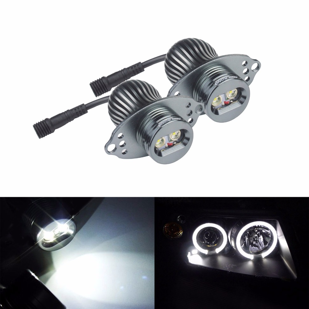 ANGRONG 2x20 W phare LED ange yeux Halo anneau ampoule pour BMW E90 E91 LCI avec halogène lumières 2009 + 6000 K blanc