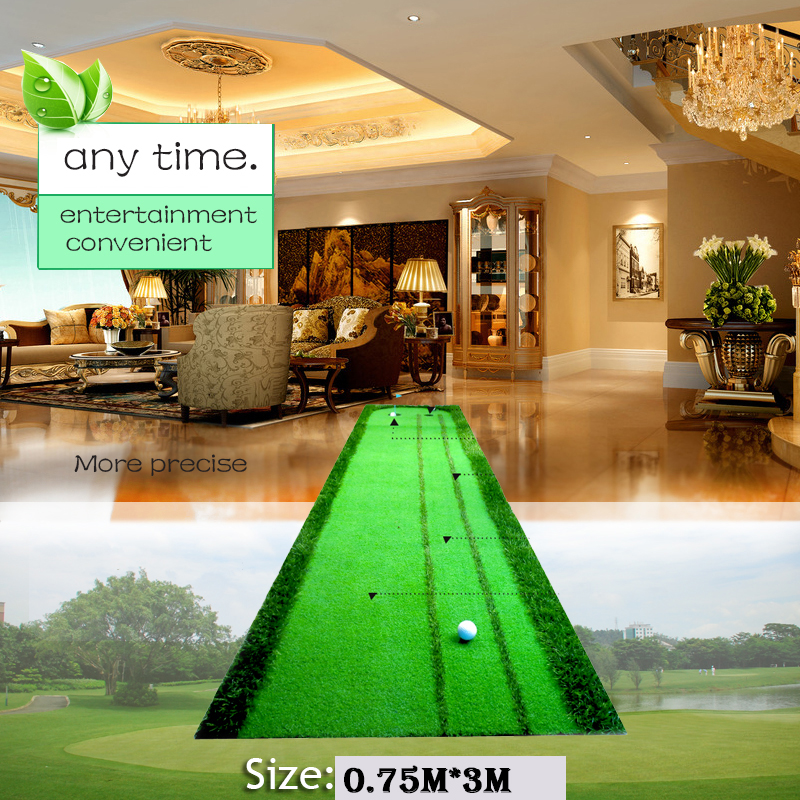 Golf putting green swing mat practice device 2 holes in the green 2016 new golf putting mat mini golf putting trainer with automatic ball return indoor artificial grass carpet
