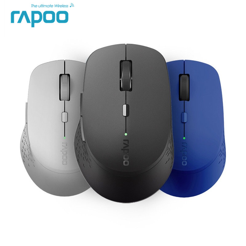 New Rapoo M300 Multi-mode Silent Wireless Mouse With 1600DPI Bluetooth 3.0/4.0 RF 2.4GHz For Three Devices Connection