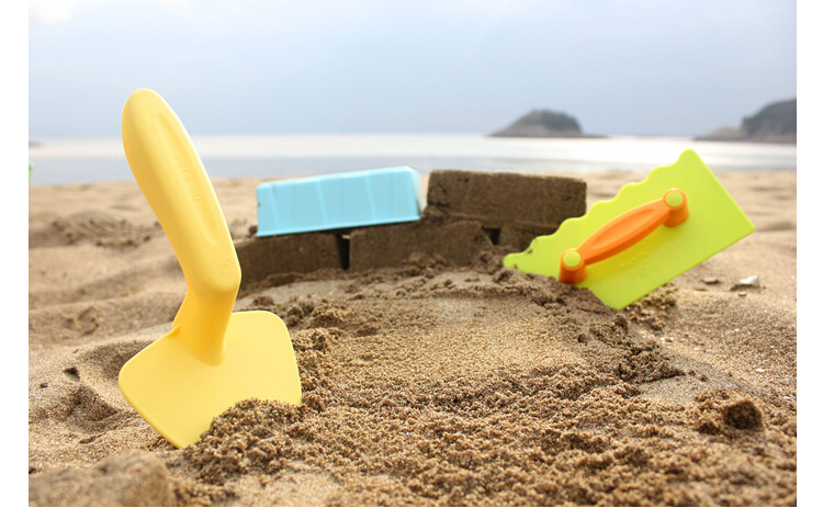 children's beach toys 3pcs/set baby play the Great Wall brick mold masonry tool trowel conch beach 3pcs antiskid flannel toilet mat set