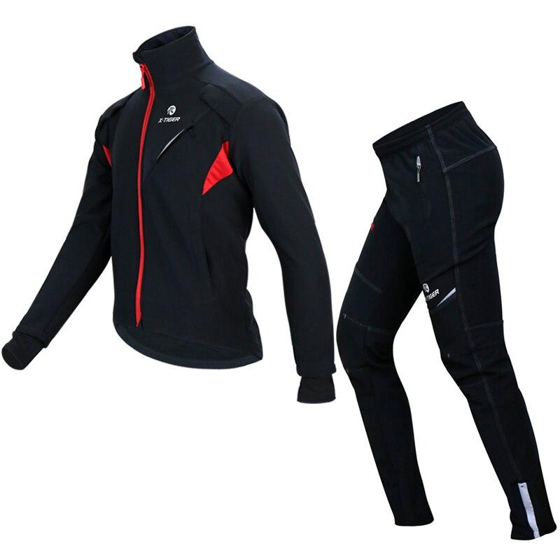 2019 nouveau hiver polaire thermique veste de cyclisme manteau réfléchissant vélo vêtements ensemble Sportswear coupe vent vtt vélo maillots vêtements