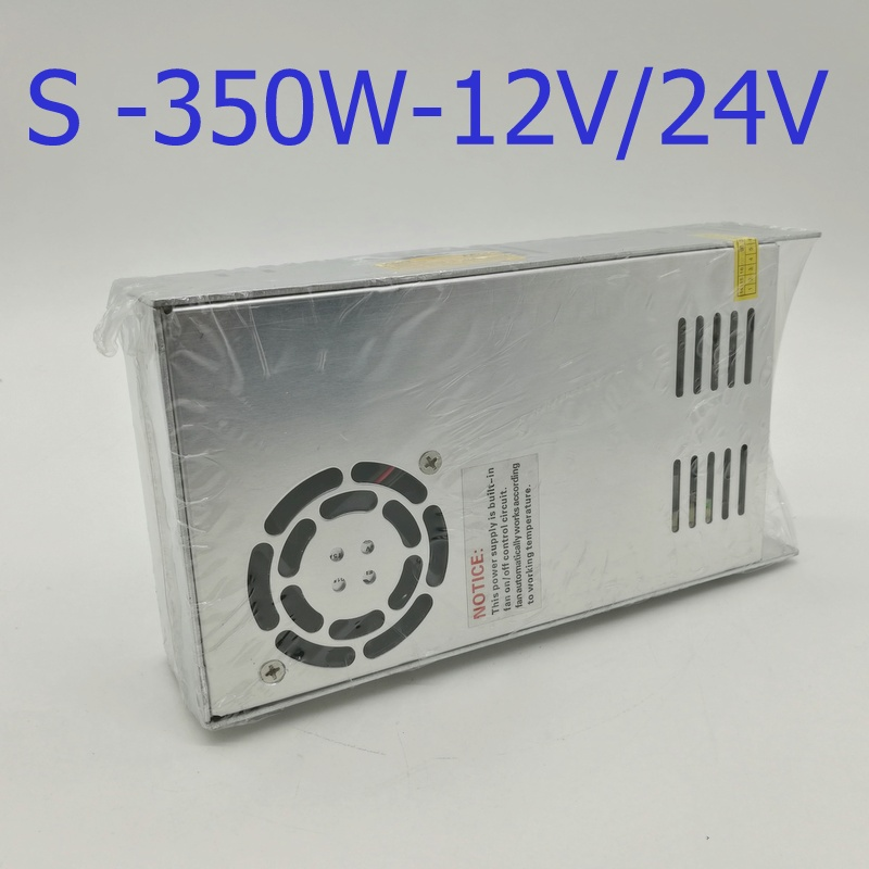 S 350W 24V 15A  Single Output Switching power supply AC to DC 3D print CPAM s 350 24 350w 24v non waterproof aluminium switching power supply cooling fan