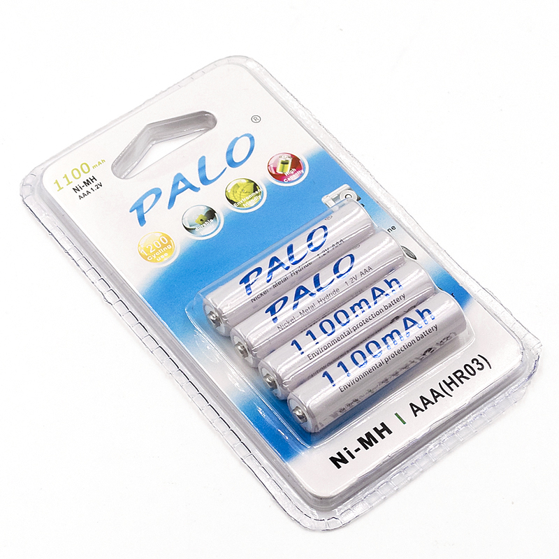 Free shipping and Gift battery box,4 pcs 1100mAh 1.2v AAA rechargeable battery for camera MP3 mp4 microphoneplacement battery