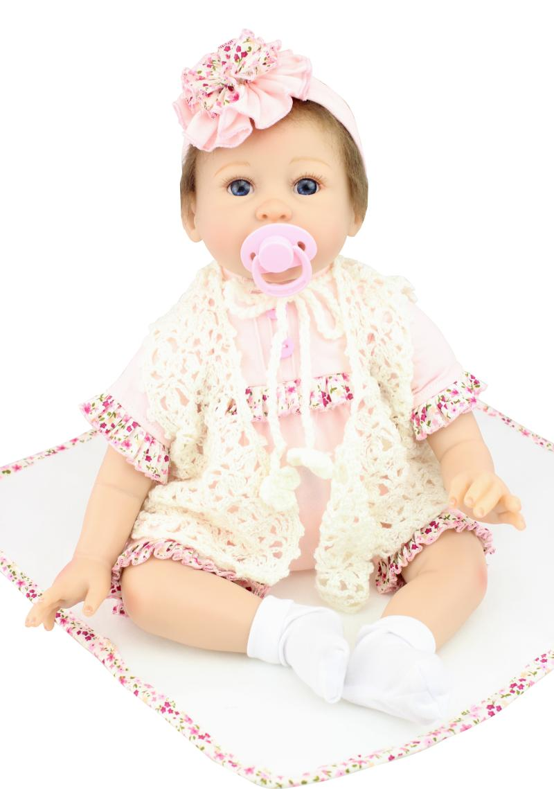 NPK COLLECTION DOLL 55cm Silicone Reborn Baby Dolls Toy Soft Body Newborn Boy Babies For Girls Play House Toy Kid Birthday Gift npk 22inch reborn dolls full silicone doll reborn baby toys for girls birthday gift silicone reborn babies with fashion clothes