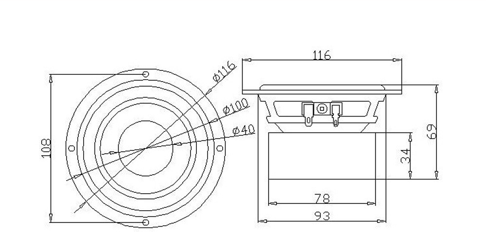 sounderlink audio labs 4inch 60w subwoofer woofer bass speaker driver 4 u0026quot  40w audio transducer