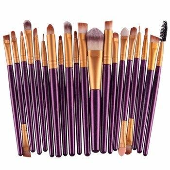 20pcs/set Makeup Brushes Pro Blending Eyeshadow Powder Foundation Eyes Eyebrow Lip Eyeliner Make up Brush Cosmetics Tool 2018