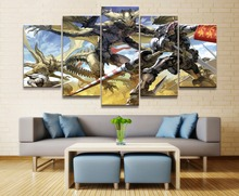 Gundam Anime 5 Piece HD Print Home Painting Wall Art Canvas Modern Decorative Artwork Art For Living Wall Art Painting цена