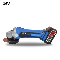 2PCS Lithium Battery 36v Cordless Angle Grinder Rechargeable Grinding Machine Battery Polishing Cutting Grinding Sanding Tool