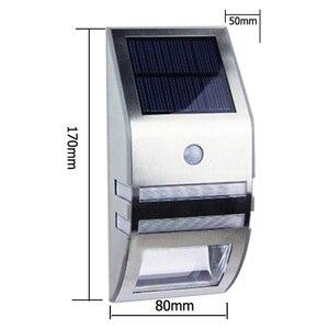 Image 3 - 4 סטים LED Solar Power מנורת PIR Motion חיישן קיר אור חיצוני עמיד למים אנרגיה חיסכון רחוב גן חצר אבטחת מנורה