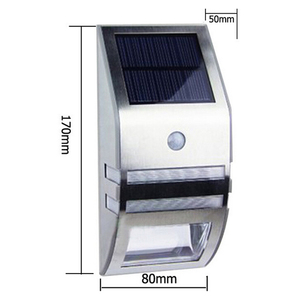 Image 3 - 4 Sets LED Solar Power Lamp PIR Motion Sensor Wall Light Outdoor Waterproof Energy Saving Street Garden Yard Security Lamp