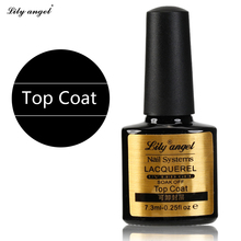 Lily angel 1Pcs 7.3ml nail Top Coat  Peel soak Off Liquid Tape lacquerel UV LED Gel Lamp Cured Nail Polish Art Z20
