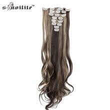 Snoilite парики 24 inch 170 г прямые 18 Зажимы в накладные для укладки волос Синтетические пряди для наращивания волос 8 шт./компл.