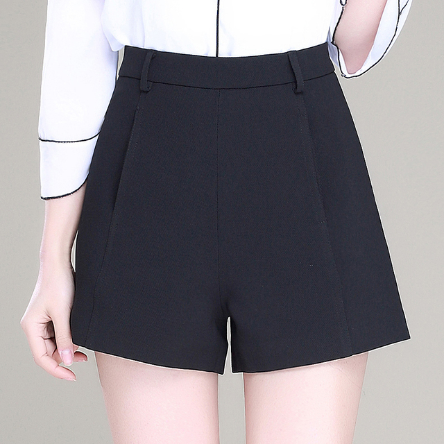 black and white womens shorts