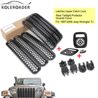 Front Grille Vent Trim Ring Cover Catch Lock Brackets Taillight Protector Guards Cover For Jeep Wrangler