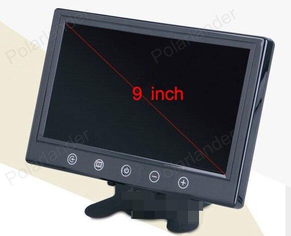 9 zoll Auto Monitor für parkplatz hintere ansicht Kamera DVD VCR 800x480 mit fernbedienung DC 12 v/24 v TFT LCD display