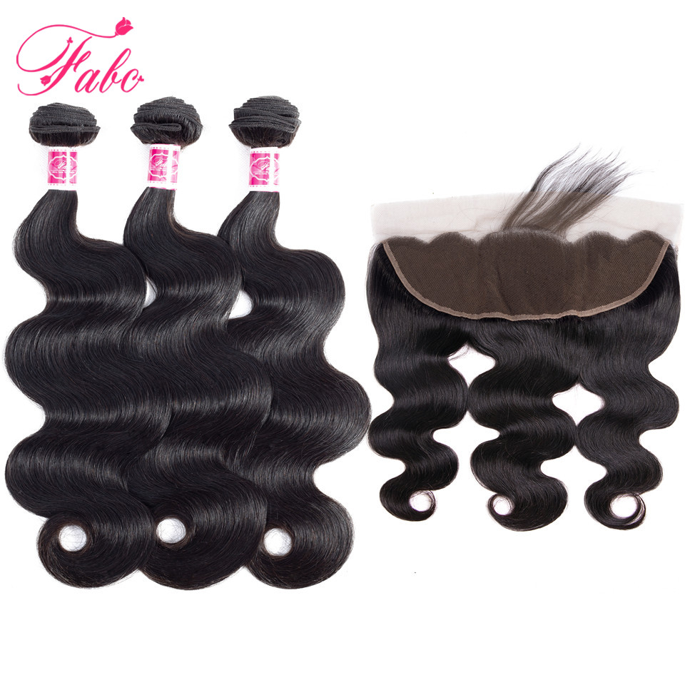 FABC hair peruvian hair body wave 3 bundles with frontal non remy hair ear to ear frontal and bundles non remy wholesale hair ...