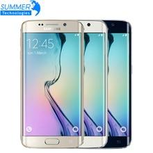 """Оригинальный Samsung Galaxy S6 G920F G925F Edge 5.1 """"Octa Ядро 3 ГБ RAM 32 ГБ ROM 16MP GPS NFC Разблокирована Восстановленное Мобильных Телефонов"""