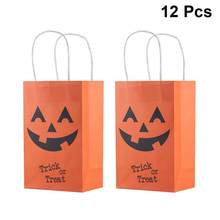 12PCS Paper Halloween Party Candy Box Gift Bags Colorful Portable Tote Bag For Halloween Festival Party Supplies(China)