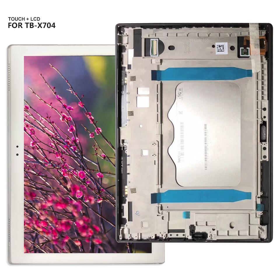 Pour Lenovo Tab 4 10 Plus TB-X704 TB-X704L TB X704 Tab4-x704 Écran LCD Numériseur Écran Tactile Assemblage de Verre + cadre
