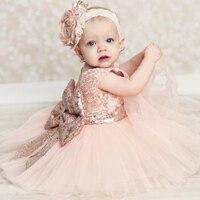 SMDPPWDBB Cekiny bow Dziewczyna Sukienki na Wesele Korowód Komunia Sukienka dla Dziewczynek Maluch Pierwsze Święte Woal Junior Sukienka Dziecko