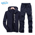 2017 New Casual Breathable Tracksuit Men Sweat Suit Plus Size 4XL Hoodies&Sweatershirts+Sweatpants 2Pcs Men Hoody Tracksuits