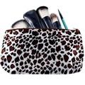 1 UNIDS Nuevo Leopardo de La Manera bolsa de Viaje bolsas de Cosméticos Mujeres necessaries Maquillaje Diseñador organizador del artículo de tocador del bolso