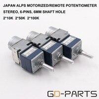 Dual 2x10K 2x50K 2x100K Stereo ALPS RK27 Motorized Potentiometer Remote Volume Sound Control For Vintage Tube
