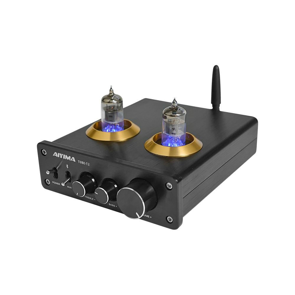 AIYIMA Amplificador Bluetooth 5 0 Home Pre Amplifier Tube Preamp 6J1 Vacuum Tube Preamplifier HiFi Audio