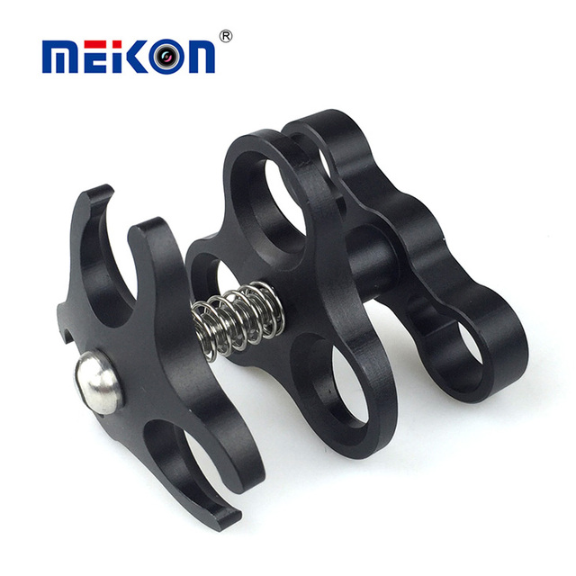 Underwater Photography equipment multifunctional AluminumThree Holes butterfly Clamp