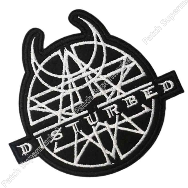 Disturbed Logo Music Rock Band Logo Embroidered New Iron On And Sew
