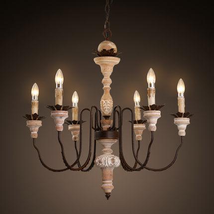 Amercian Vintage Candle Led Chandelier Light Fixtures