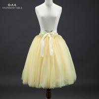 Huate Couture 7 Layer Voile Tulle Skirt Vintage TUTU Skirts For Womens Lolita Petticoat Falda Mujer