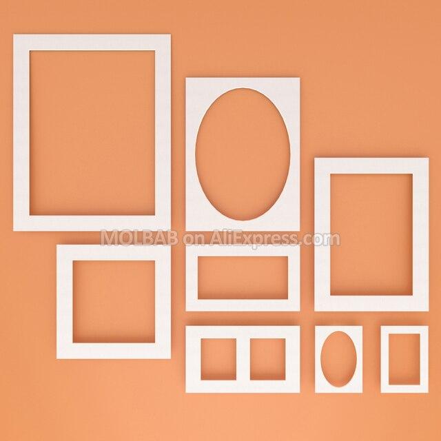 Aliexpress.com: Comprar Marco de fotos blanco Mat/papel negro Passe ...