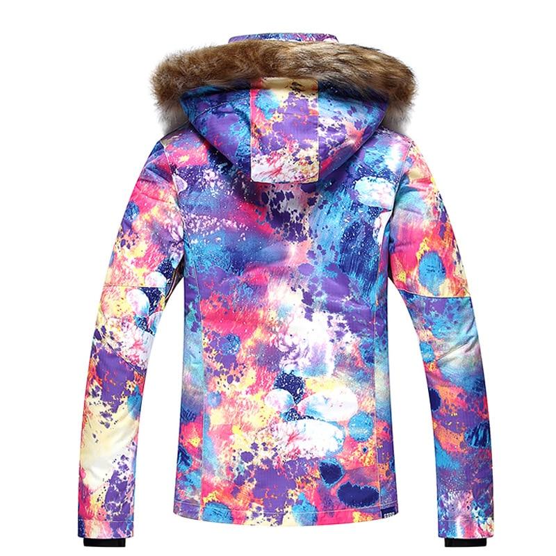 GSOU SNOW combinaison de Ski femme extérieur hiver imperméable respirant coupe-vent chaud veste de Ski manteau de neige pour femme taille XS-L - 2