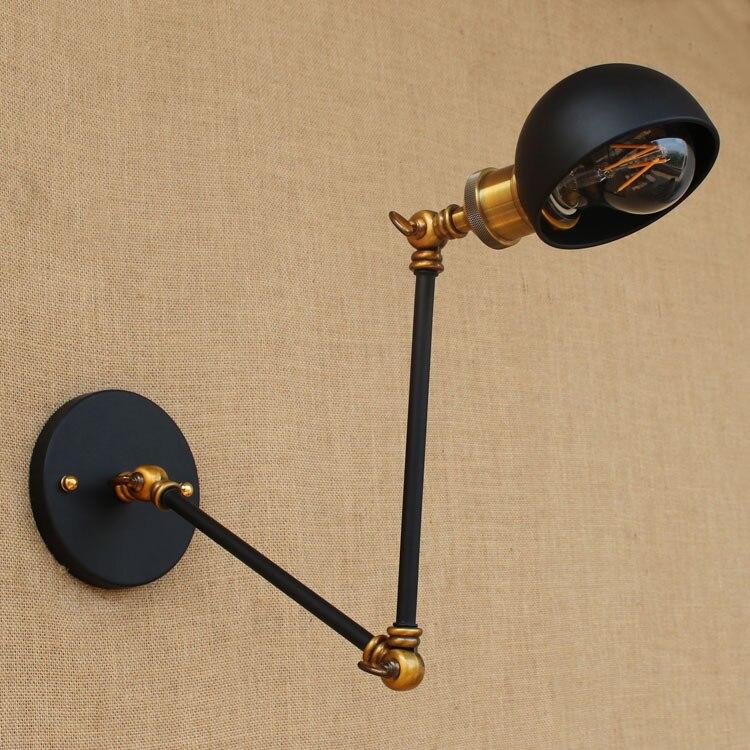Loft stílusú retro vintage fali lámpa, rusztikus, lengő karos, - Beltéri világítás - Fénykép 5